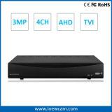 4CH 3MP/2MP CCTVの機密保護HVR