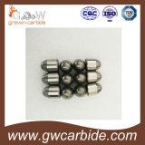 Uso de los dígitos binarios de botón del carburo de tungsteno para la roca