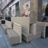 Sofá de madera moderno del restaurante del precio de fábrica