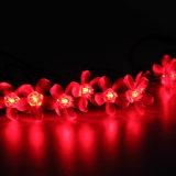 La cadena solar al aire libre enciende la luz de hadas de la flor de Sakura del flor de 20 LED para la luz de la decoración de la Navidad del banquete de boda del patio del jardín