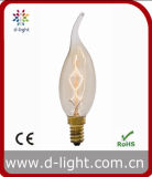 Chandelier 25W 40W E14 Vintage Antique Decorativo Claro Amber Gold C35 C35t Candle Flame Tailed Edison Bulb