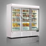 Tür-Bildschirmanzeige-Kühlvorrichtung des grossen Datenträger-2000liter transparente hergestellt in China