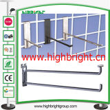 Varejo Supermercado Metal Wire Euro Display Shelf Accessories Gancho