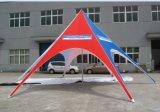 Förderung-sternförmiges Zelt-kundenspezifisches Firmenzeichen-Red Bull-Stern-Zelt für Bildschirmanzeige