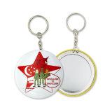 Kundenspezifischer Schlüsselring-Druck-Zeichen-Zinnblech-Schlüsselketten-Spiegel