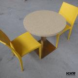 주문 크기 인공적인 돌 대중음식점 둥근 식탁 및 의자