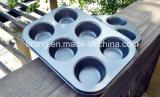 炭素鋼のテフロン焦げ付き防止のコーティングのマフィン鍋の調理器具