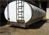 El tanque del transporte del carro de la leche, el tanque de la transferencia, el tanque que expide