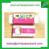 Caisse d'emballage cosmétique se pliante de papier estampée par coutume de luxe de bijou de cils
