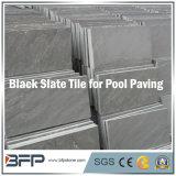 Ardesia nera naturale per la piscina che fa fronte/pavimentazione del raggruppamento