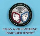 95 de XLPE 3 do núcleo milímetros de cabo do alumínio
