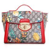 디자이너 꽃 수집은 숙녀 Handmade 가죽 최고 어깨에 매는 가방 Sy7710를 고무시켰다