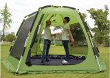 6-8 tente de personne, tente campante en aluminium de Pôle d'extension extérieure d'hexagone