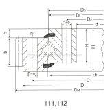 Cuscinetto trasversale di vuotamento del rullo dei pezzi di ricambio dell'escavatore/gru di precisione