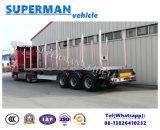 De bois de construction de camion de transport remorque en bois semi