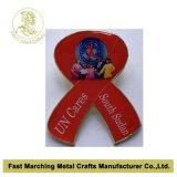 Divisa roja de la cinta de las ayudas, Pin rojo de encargo de la solapa de la cinta