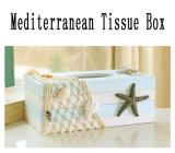 Houten Ambacht van de Dekking DIY van de Doos van het Weefsel van 100% de Met de hand gemaakte Mediterrane (SCTB00032)