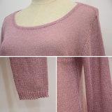 女性新しいデザインホローバックのセーター