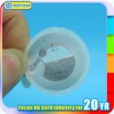 ISO18092 L'IDENTIFICATION RF NTAG213 sec NFC a mouillé/étiquette sèche de collant d'étiquette de marqueterie