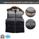 Fashion Men's Padded Vest met afneembaar nepbont Hat