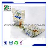 Sacchetto di plastica di imballaggio per alimenti del cane dell'animale domestico con la serratura della chiusura lampo