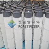 Filtros industriais da poeira do saco do plissado da parte superior do plutônio de Forst