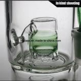 na mão de vidro de fumo grossa do cachimbo de água da tubulação de água Froth dobro de vidro conservado em estoque de Toro do micro bebedoiro automático arrebatado fundido do tabaco por atacado