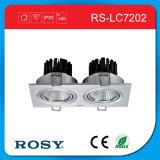 Indicatore luminoso di alluminio d'anodizzazione del punto del soffitto della PANNOCCHIA LED