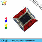 Doppelreflektor-Solarstraßen-Markierung des seiten-Aluminiumrot-LED 3m