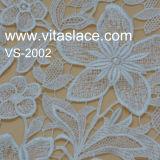 Tissu de lacet de guipure attaché par polyester en ivoire pour la vente en gros Vl-62187c de mariage