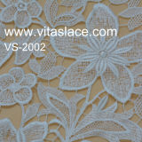 Marfim Poliéster Corded Guipure Tecido De Renda Para Casamento Atacado Vl-62187c