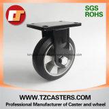 ゴム製車輪アルミニウムCenter&#160が付いているスプレーペンキの黒の固定足車;