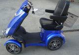 500W48V 4 Autoped van de Mobiliteit van Wielen de Elektrische voor Volwassene met AchterMand (S-028)