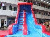 プール(CHSL511-BLUE)が付いている商業膨脹可能な水スライド