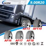 고품질 광선 트럭 TBR 타이어, ECE 점 범위를 가진 버스 타이어 9.00r20