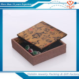 Klassisches Linen Plastic Jewelry Packaging Box mit Draw Cord