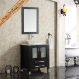 Свободно стоящая стеклянная тщета ванной комнаты двери