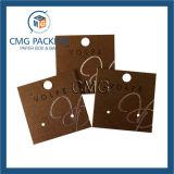 구리 색깔 귀걸이 전시 카드 (CMG-060)
