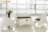 Insieme di vimini esterno per qualsiasi tempo classico del sofà di chiacchierata della mobilia del patio