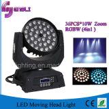 段階(HL-005YS)のための36*10W RGBW 4in1 LEDの洗浄の移動ヘッド