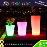 Mobilier de bar Décoration en plastique Éclairage LED Pot de fleurs