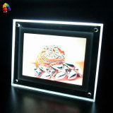 Thin sottile Crystal Light Box con il LED Illuminated