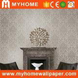 Papel pintado profundamente realzado de las flores del PVC del damasco de Guangzhou (MK830206)