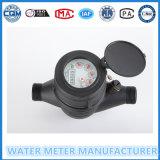Contador del agua plástico de la dial de jet de la rueda multi seca de la paleta