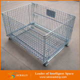 Metal Steel Wire Mesh Pallet Cage 접을 수 있고는 Foldable