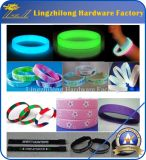 Bracelet fait sur commande en caoutchouc de vente en gros de bracelet de silicones