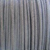 Schwarzes Weiß kopiert Gewebe geflochtenes Kabel