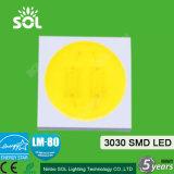 중국 공장은 2835 5730 3030 SMD LED 3V 6V 9V 18V 50V 0.2W 0.5W 1W CRI80/90를 제공한다