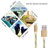 Het nylon vlechtte de Bliksem van 8 Speld aan het Laden van de Kabel USB Kabel