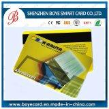 Colorida tarjeta de PVC brillante con rayas magnéticas